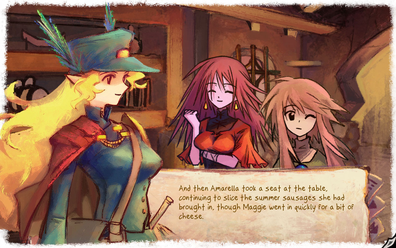Print do visual novel Canvas Colors: In The Moving City